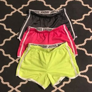 Girl's Justice (3)Mesh Shorts Bundle